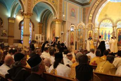 Fr. Theodore and his monastic companions in the congregation. Photo Courtesy of St. Nicholas Catholic Cathedral.