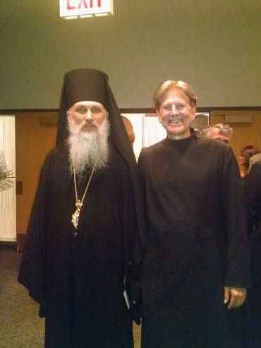 Bishop +Benedict and Chicago seminarian Martin Nagy. Photo courtesy of Fr. Raphael Strontytskyy.