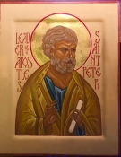 Our new patronal icon of Saint Peter
