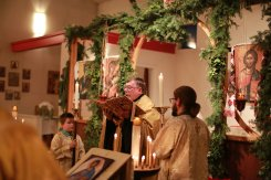 The proclamation of the Nativity Gospel