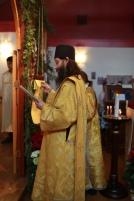 The deacon chants a litany