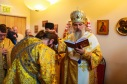 Bishop Benedict reads the prayer of ordination to the subdiaconate.